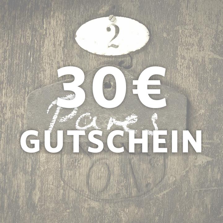 Gutschein im Wert von 30 €