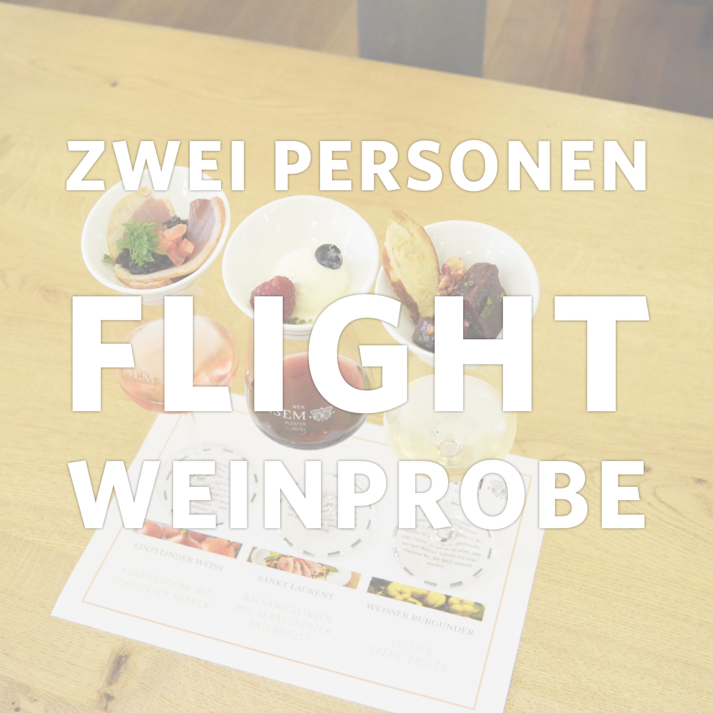 3er-Flightweinprobe für zwei Personen