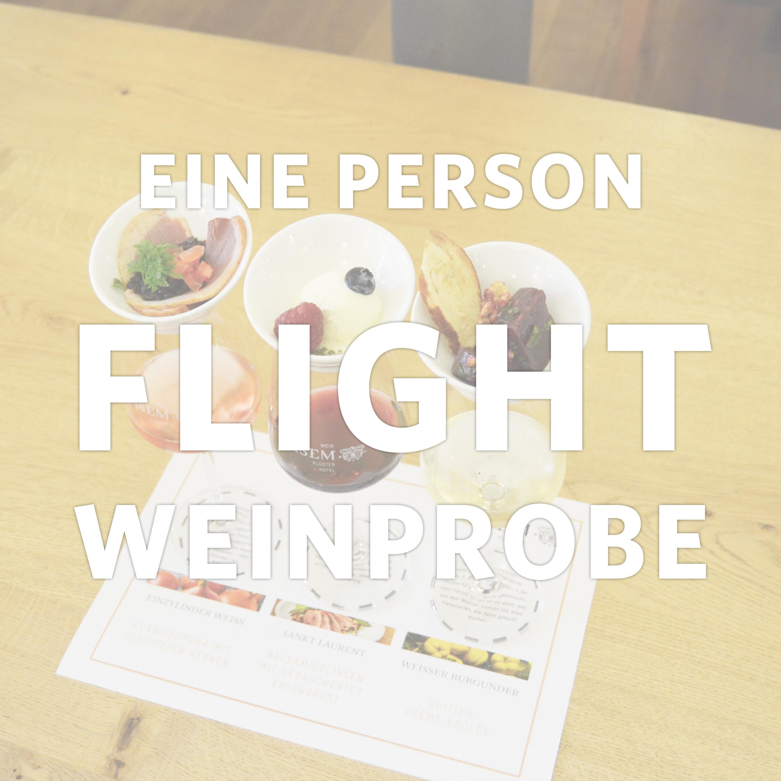 5er-Flightweinprobe für eine Person